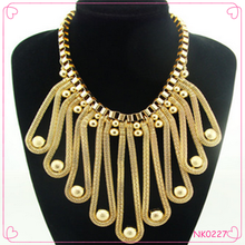 New Arrival 2016 European Statement Necklac Gold Tassel Necklace