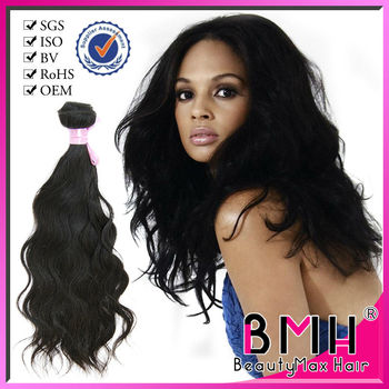 Grade 5A natural brazilian human hair weave wholesale