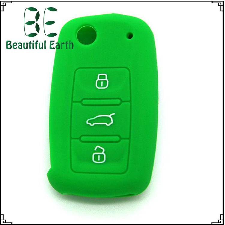 high quality lockpick locksmith car key cover /casing /shell 3-button smart remote control Silicon Rubber