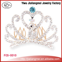 Hot sale!!! Factory wholesale rhinestone tiaras pageant crown for beauty queen