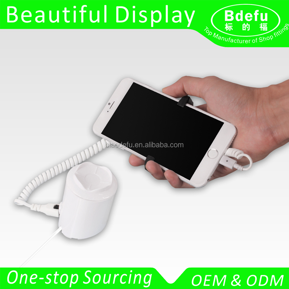 Retail store Anti Theft Alarm Device for Mobile Phone security display with charging
