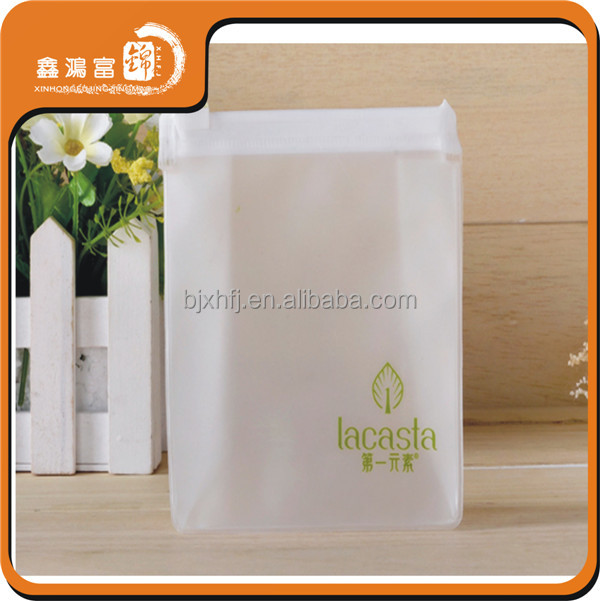 Custom pvc waterproof zip lock plastic garment bag