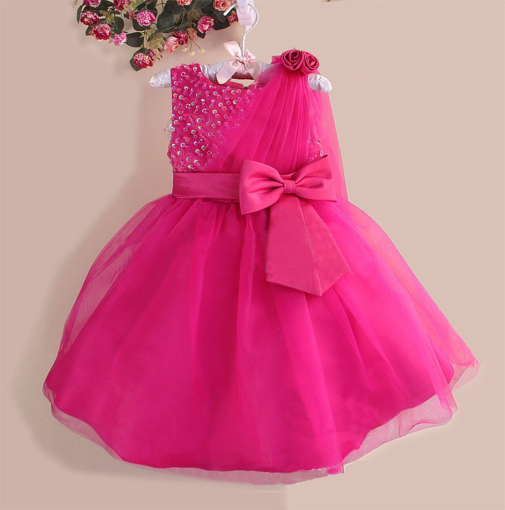 Wholesale children party dress baby 1 year old party dress girl ...