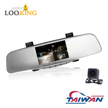 TAIWAN Rearview mirror car DVR 2CH HD resolution dash cam car camera dashcam car dvr