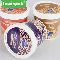 Food grade carboard disposable paper hot and sour soup containers