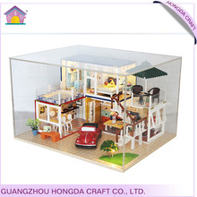 Affordable with light and furniture miniature dolls house kids toys and games
