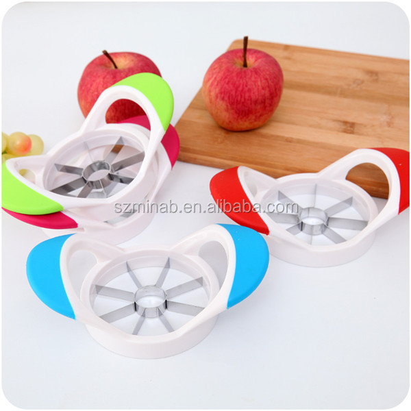 2016 new product Fruit and Vegetables tool stainless steel apple pear cutter apple shape apple corer slicer