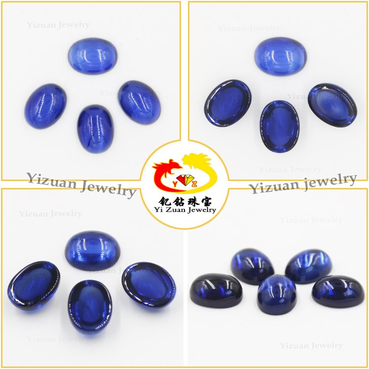 Machine model make perfect oval sapphire cabochon