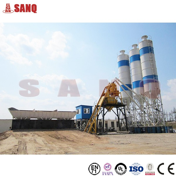 China HZS50 Hopper Type Concrete Batching Plant for sale