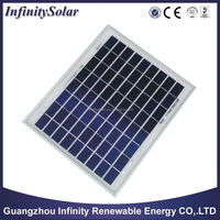 10W Poly Solar PV Panel, 156x156mm Cell Size