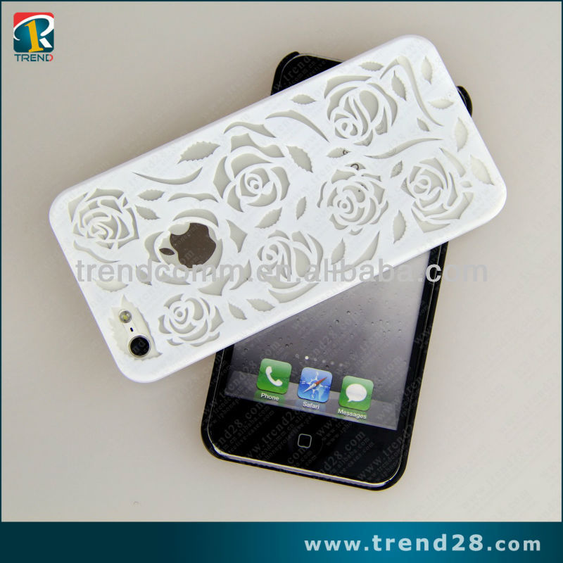 rose hollow pc cell phone case for iphone 5 5s