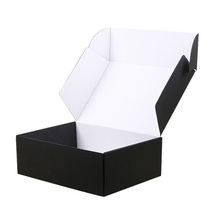 High Quality Fashion Black Customized Corrugated Paper Shipping Box