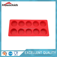 10 cups silicon ice cube tray