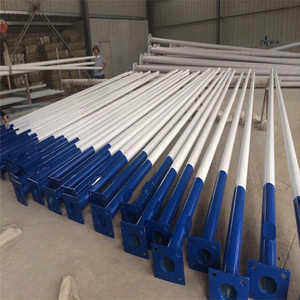 Hot sale galvanized steel street lighting pole price 4m, 5m, 6m, 8m, 10m, 12m heigh with factory price