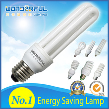 Factory Wholesale 2u/20W Energy Saving light / Full Half Spiral Tube Compact fluorescent lamp Bulb/ Lotus Lighting CFL
