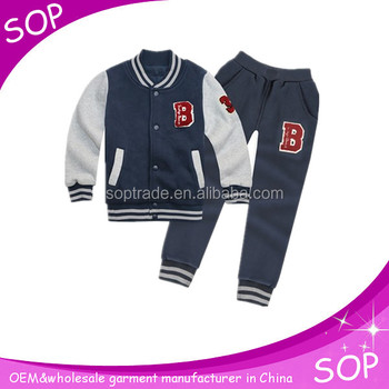 kids winter football training suit china supplier