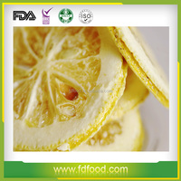 Wholesale FD Fruit Good Quality Natural Snack Freeze Dried Lemon