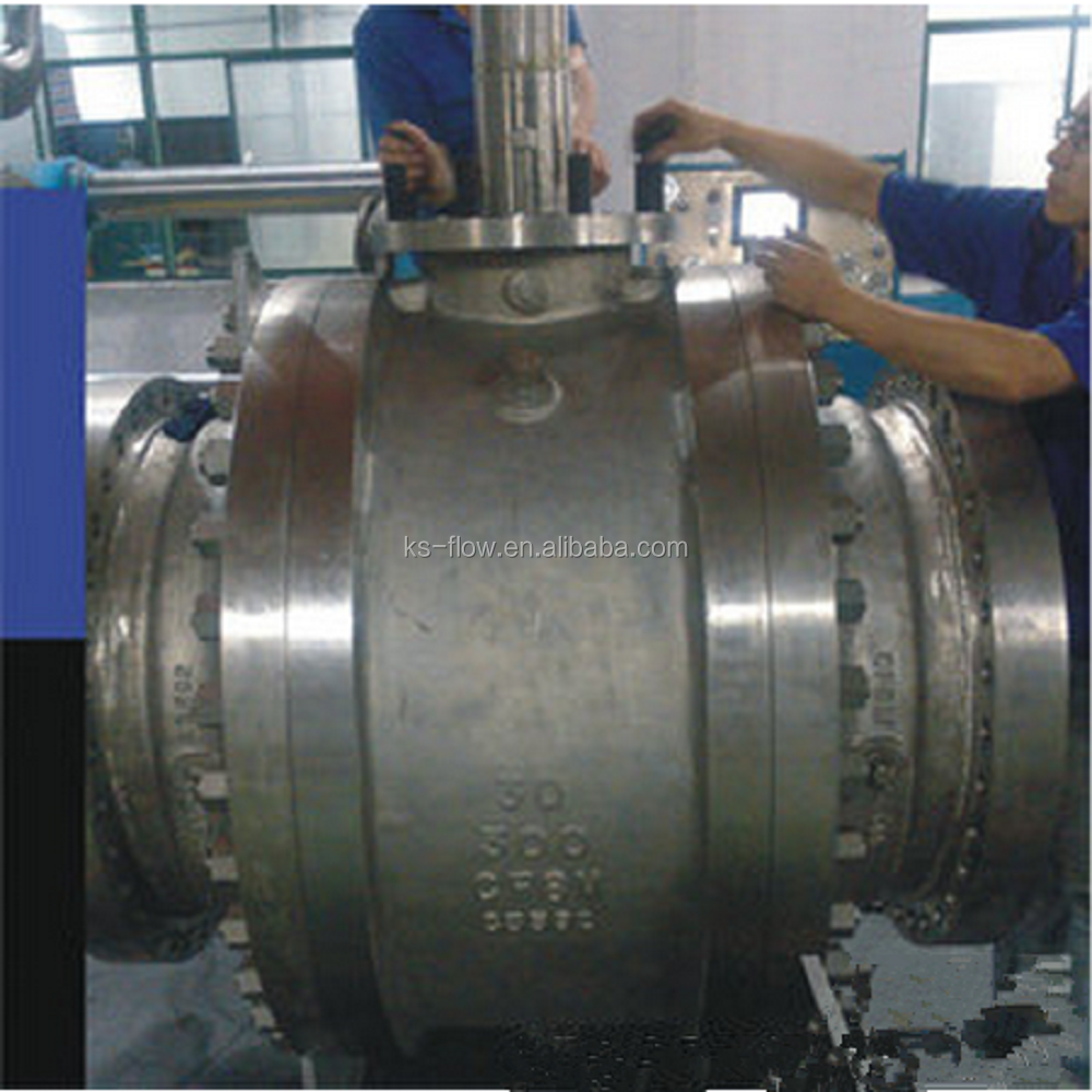 a216w wcb API 6D Std Trunnion Mounted gas Ball Valve with Bare Shaft