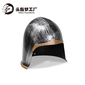 Plastic Brushed Sliver Medieval Rome Knight Gladiator Helmet for Party Carnival