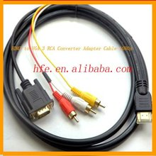 micro HDMI to VGA 3 RCA Converter Adapter Cable 1080p