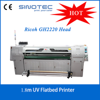 Roll to roll & Sheet to sheet uv flat ebd printer with 8 pcs GH2220 head