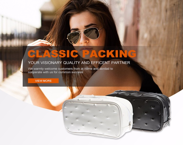 Classic packing fashion design toiletry promotional travel cosmetic handmade pu bag
