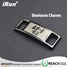 Rectangular Shoe Sneaker Metal Shoelace Charm - New Design Shoes Decoration Tags - amazon/eBay Shoelace Charms Supplier