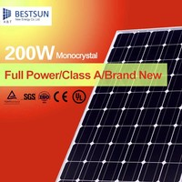 China top mono solar module/ panel 200 watt aluminum frame