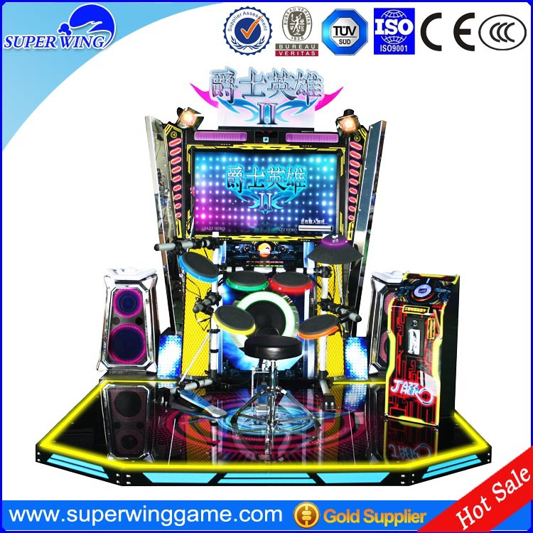 "42""LCD Jazz hero electronic drum simulator game"