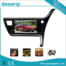 Android 5.1 two din car dvd gps special for Toyota Corolla 2017 right hand with 3g &wifi and 9inch HD screen