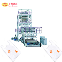 2017 New technology and high winding speed PE shrink film machine line