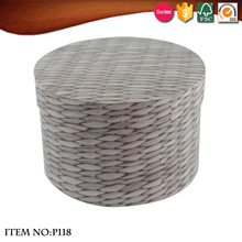 Gray round bamboo weaving pattern sundry receive a case