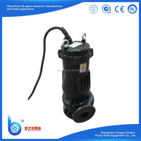 Non-clog WQ series large flow vertical single stage centrifugal submersible sewage drainage pump