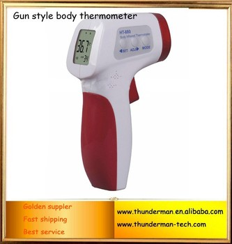 Gun style wireless Human LCD Digital infrared thermometer