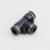 Black Pneumatic Push-in Fittings Plastic Pneumatic Tube Fittings
