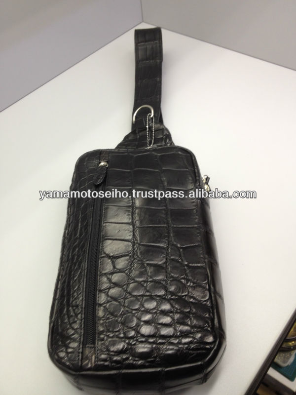 Shoulder bag crocodile leather for adult men