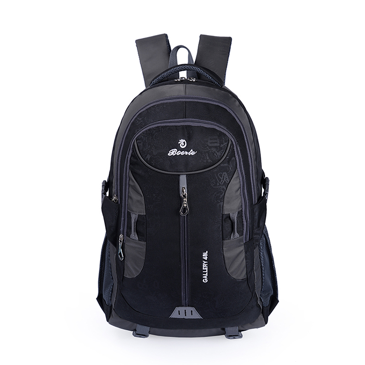 Nylon strong outdoor backpack for men hidden compartment backpack