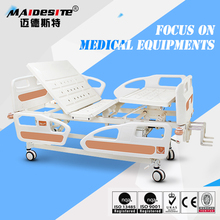 cheap price manual hospital bed with commode
