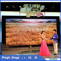 curve P4 indoor rental led display panel