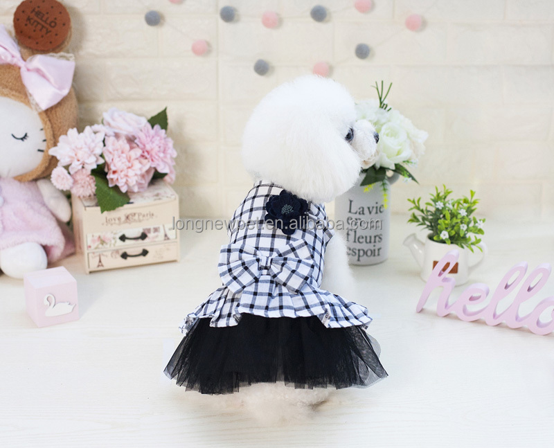 Lovable Girl Dog Apparel Fashion KR Japan Style Dog Dress For Small Teddy