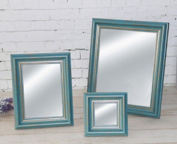 Gorgeous plastic ornate makeup mirror art frame for home decoration