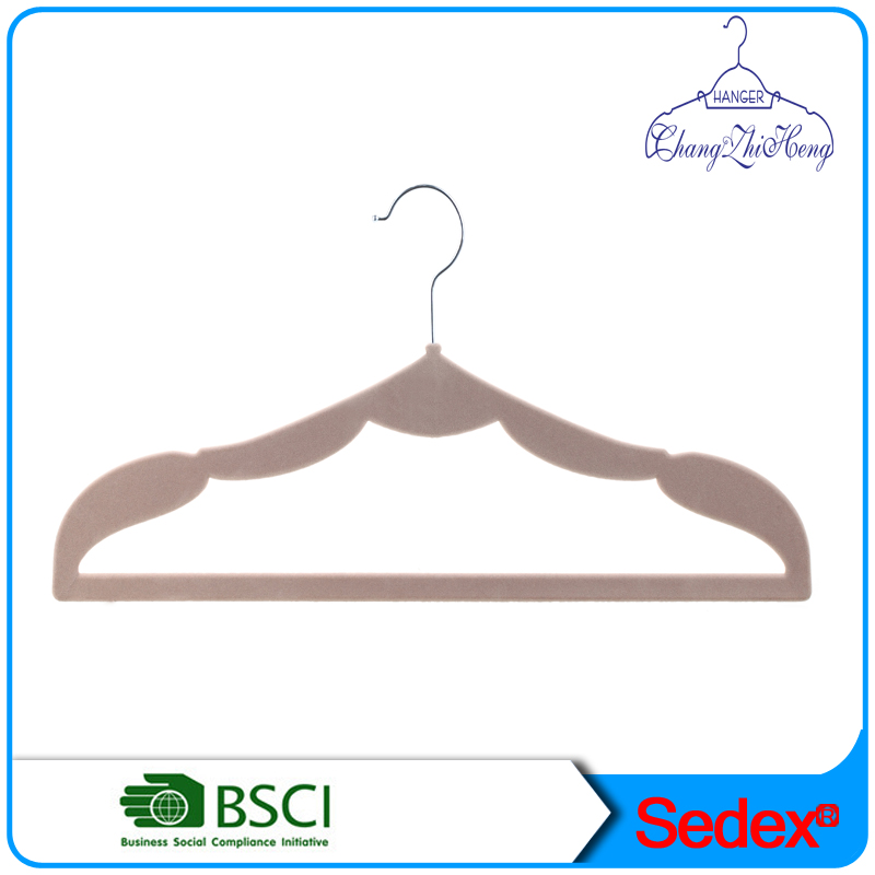 velvet wave type men's clothes hanger
