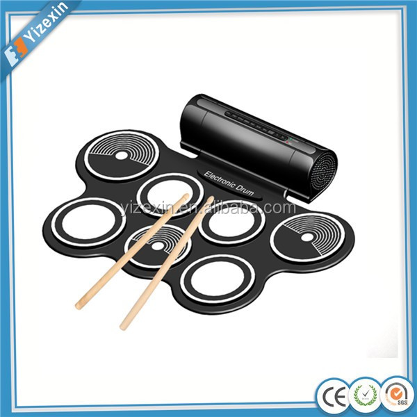 yizexin Flexible Silicone Electronic Drums Kit Drum With Speaker to play it directly