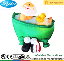 DJ-158 4 foot indoor christmas airblown black shoes inflatable santa claus Bathtub dark decoration