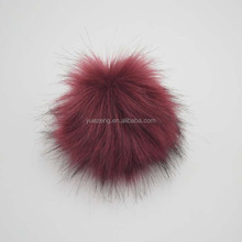 Hande Made fake fur ball pom fox fur keyring