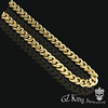 18k gold 316l stainless steel cuban link chain for men