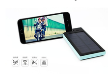 Outdoor Waterproof Anti-dust Solar Power Bank 6000mAh Solar Charger with Phone Stand for Mobile Phones
