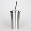 Stainless steel water tumble straw cup