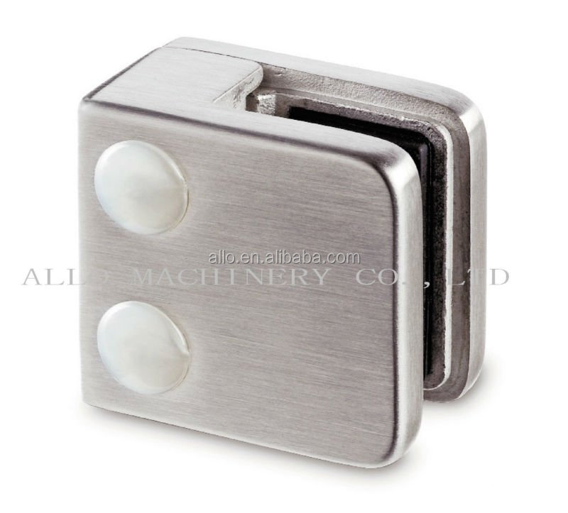 stainless steel c clips metal glass clip clamp with hinge mount square style glass holder