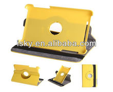 360 Degree Rotating Leather Folio Stand Case Cover for Google Asus Nexus 7-Inch tablet (Yellow)